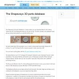 Shapeways 3D Parts Database