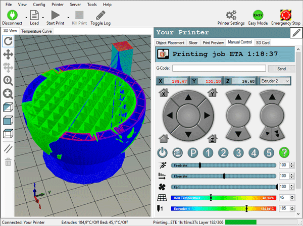 how to get the 3d printer working code